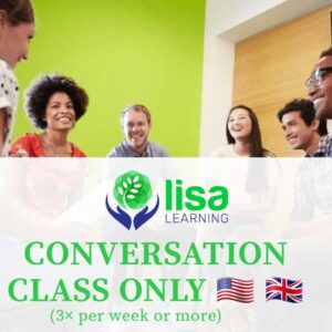 LISA Learning English Conversation Class Only